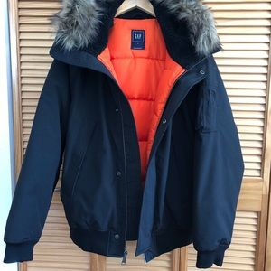 GAP FUR LINED DOWN JACKET